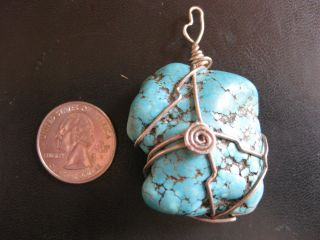 Unique Large Turquoise Pendant photo