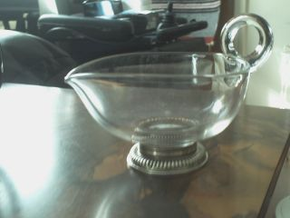 Vintage Frank Whiting Gravy Boat Creamer Sterling Silver Base Applied Handle photo