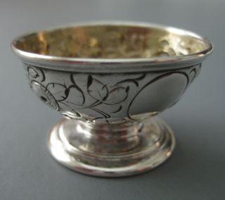 Brilliant Cut Coin Silver Salt Cellar A E W Andrew Elliot Warner 1850s Mint photo