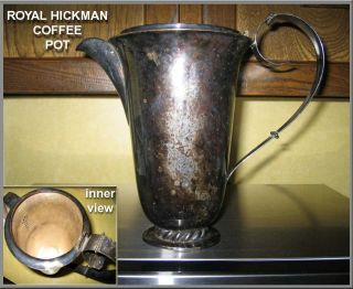 Vintage Royal Hickman 3 Crowns Silverplate Coffee/tea Pot