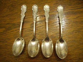 4 Holmes & Edwards1894 Waldorf Teaspoons Victorian Silverplate photo