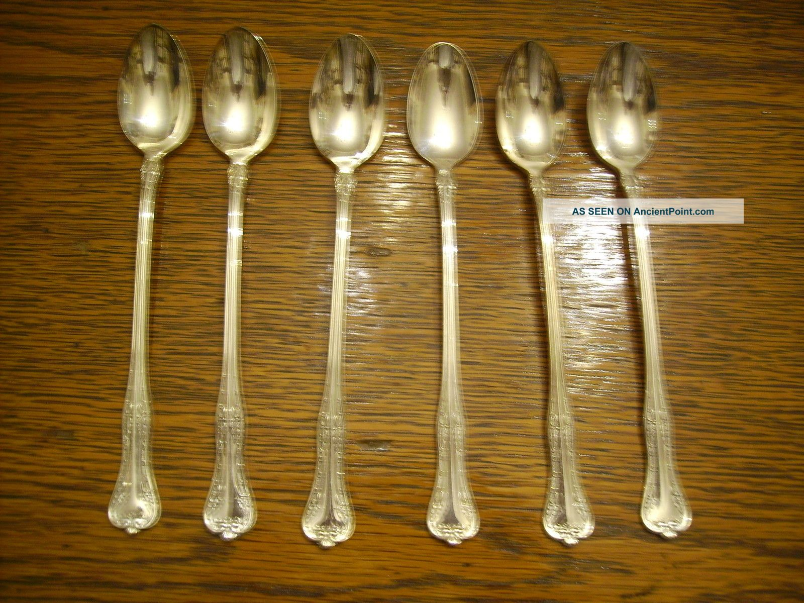 6 National Silverplate 1908 Queen Elizabeth Iced Tea Spoons Rogers National photo