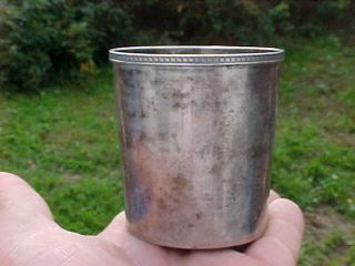 Very Rare 1800 ' S R.  Best Coin Silver Mint Julep Cup Ky.  Derby Julep Cup photo