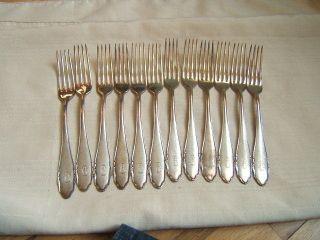 12 Wmf Forks Silverl Plated Fan Pattern Art Deco photo
