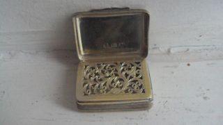 Antique Georgian Silver Vinaigrette By Thomas Northcote 1797 photo