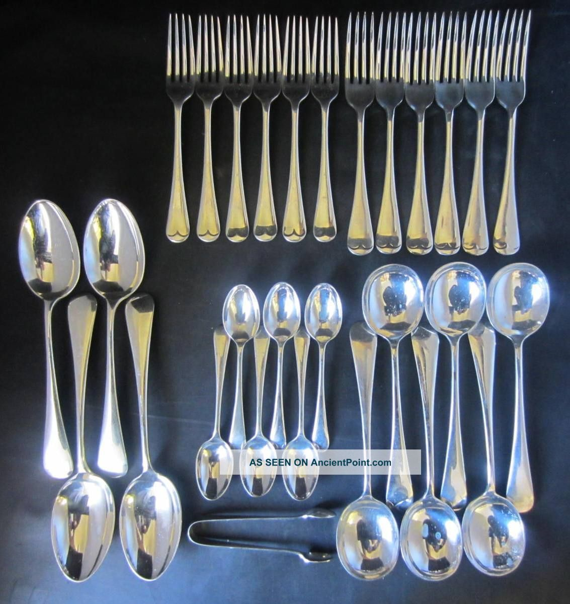 29 Piece Suite Of 6 Covers Silver Plated Old English Pattern Cutlery Other photo