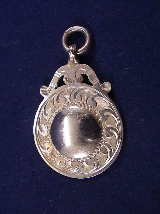 Mint – Art Deco Solid Silver Watch Fob –by Herbert Bushell & Son Ltd – 1921 photo