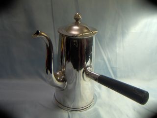 Quality Huge Vintage Reed & Barton Us Navy Silvered Chocolate / Tea Pot photo