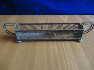 Antique Brs Nickel Silver Sheffield Table Rack/holder/basket photo