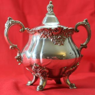 Wallace Baroque 284 Sugar Bowl Silverplate - Vintage Never photo
