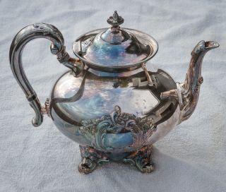 Vintage Silver Plate Reed & Barton 5600s Teapot Elegant Antique Coffee Tea Pot photo