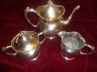 Vtge Antique Superior Co Quadruple Plated Tea Set Ornate & Unique photo