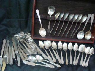 Vintage Wm Rogers Mfg Co Is Silverware 49 Pieces