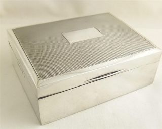 Vintage Hallmarked Sterling Silver Cigarette Box - 1975 photo