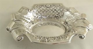 Antique Hallmarked Sterling Silver Dish With Scroll Ends - 1903 photo