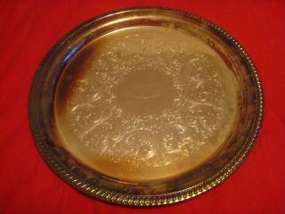 1) Ornate Sheridan Silverplated Trays 16