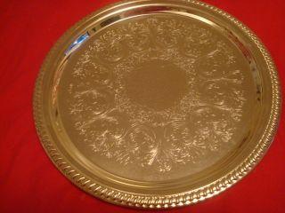 1) Ornate Sheridan Silverplated Trays 14