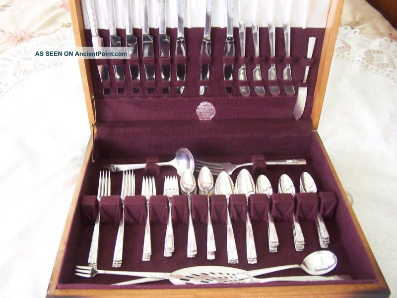Vintage Silverplate Nobility Plate (oneida) Caprise Flatware Set 67 Pc Other photo