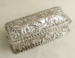Antique Hallmarked Sterling Silver Table Box - Chester 1898 photo