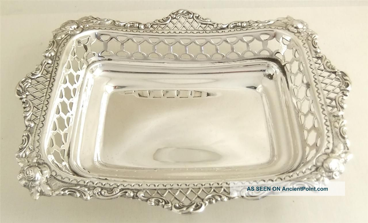 Antique Hallmarked Solid Sterling Silver Dish - 1900 - 115g Dishes & Coasters photo
