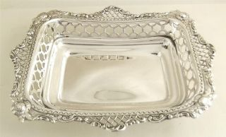 Antique Hallmarked Solid Sterling Silver Dish - 1900 - 115g photo
