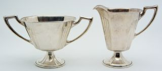 Saart Sterling Silver Tea Creamer & Sugar Bowl Set photo