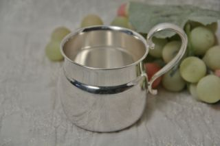 Silver Plate Baby Cup By Gorham Pattern Yc62 Bottom Marked With E Anchor P photo