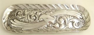 Antique Hallmarked Sterling Silver Pen Tray 1899 - Walker & Hall photo