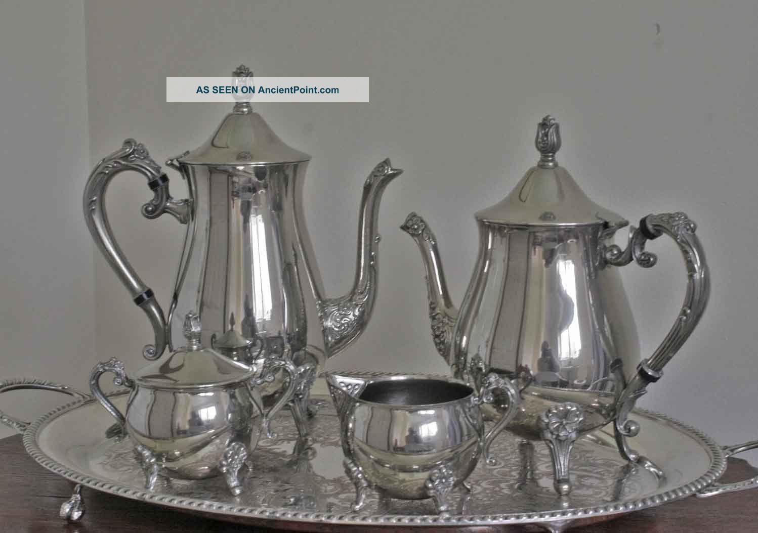 & Vintage Silver Plated Tea And Coffee Set. Decorative And Pristine.