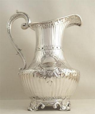 Antique Hallmarked Sterling Silver Jug - 1842 - Barnard - 240g photo