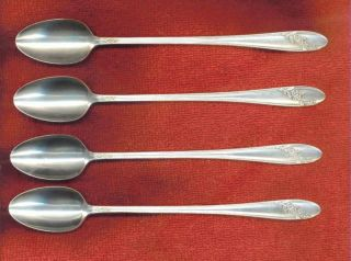 Oneida Tudor Plate Queen Bess Ii 4 Iced Tea Spoons Condition photo