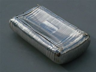 Solid Silver George Iii Curved Snuff Box Circa 1790 photo