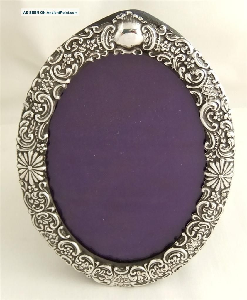 Antique Hallmarked Sterling Silver Photo Frame - 1901 Frames photo