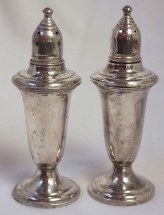 Empire Sterling Silver Weighted Salt And Pepper Shaker 241 photo