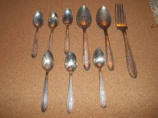 Isabella Silverplate Silverware 9pc photo