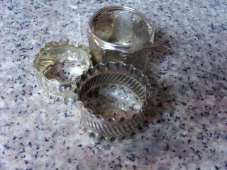 3 Sterling Napkin Rings/ Holders photo