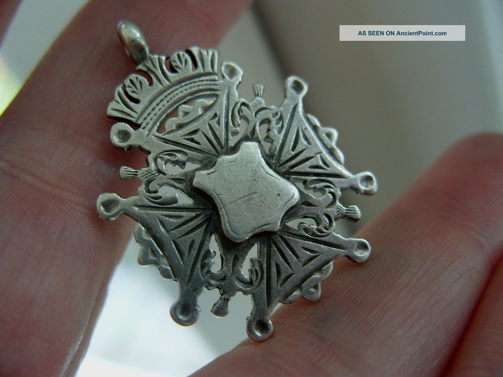 Antique 1895 Full English Hallmark Silver Albert Pocket Watch Chain Fob Medal Pocket Watches/ Chains/ Fobs photo