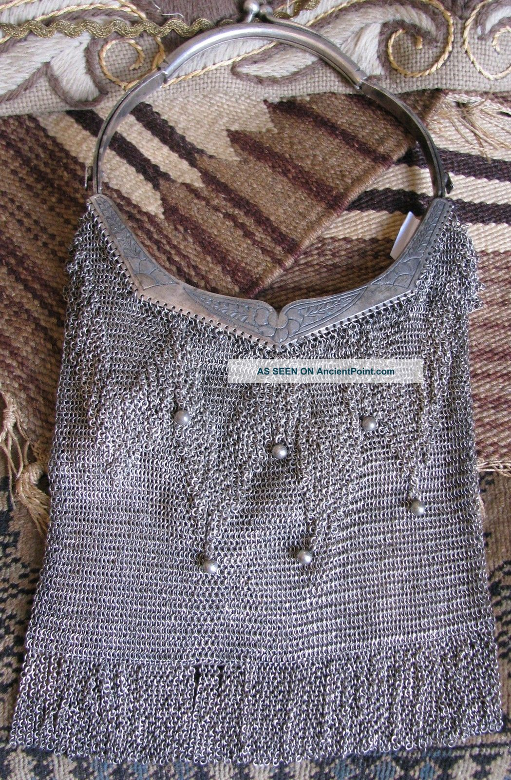 Antique Sterling Silver Mesh Handbag Purse Other photo