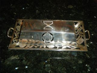 1950 ' S Sterling Silver & Etched Glass Los Ballesteros Butter Dish Mexico,  Taxco photo