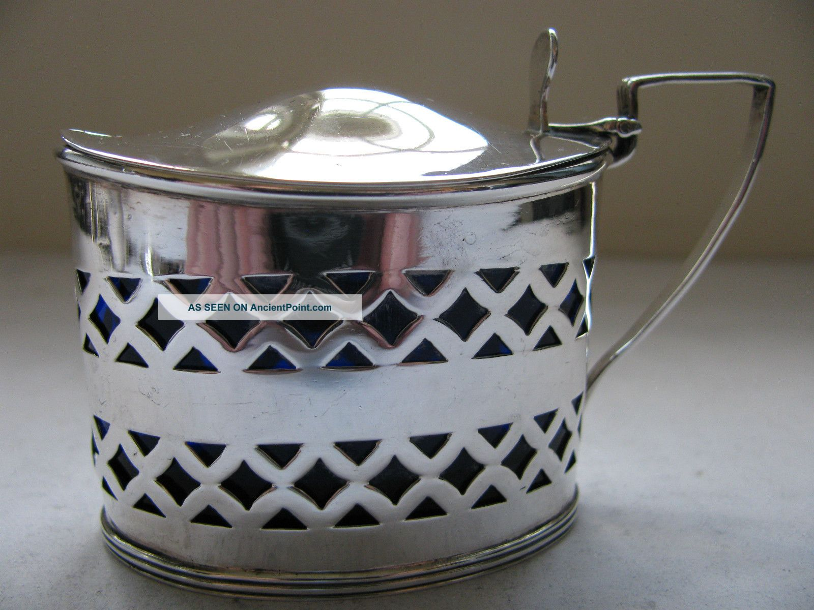 Victorian Solid Silver Mustard Pot Hallmarked Chester 1896 By Florence Warden Mustard Pots photo