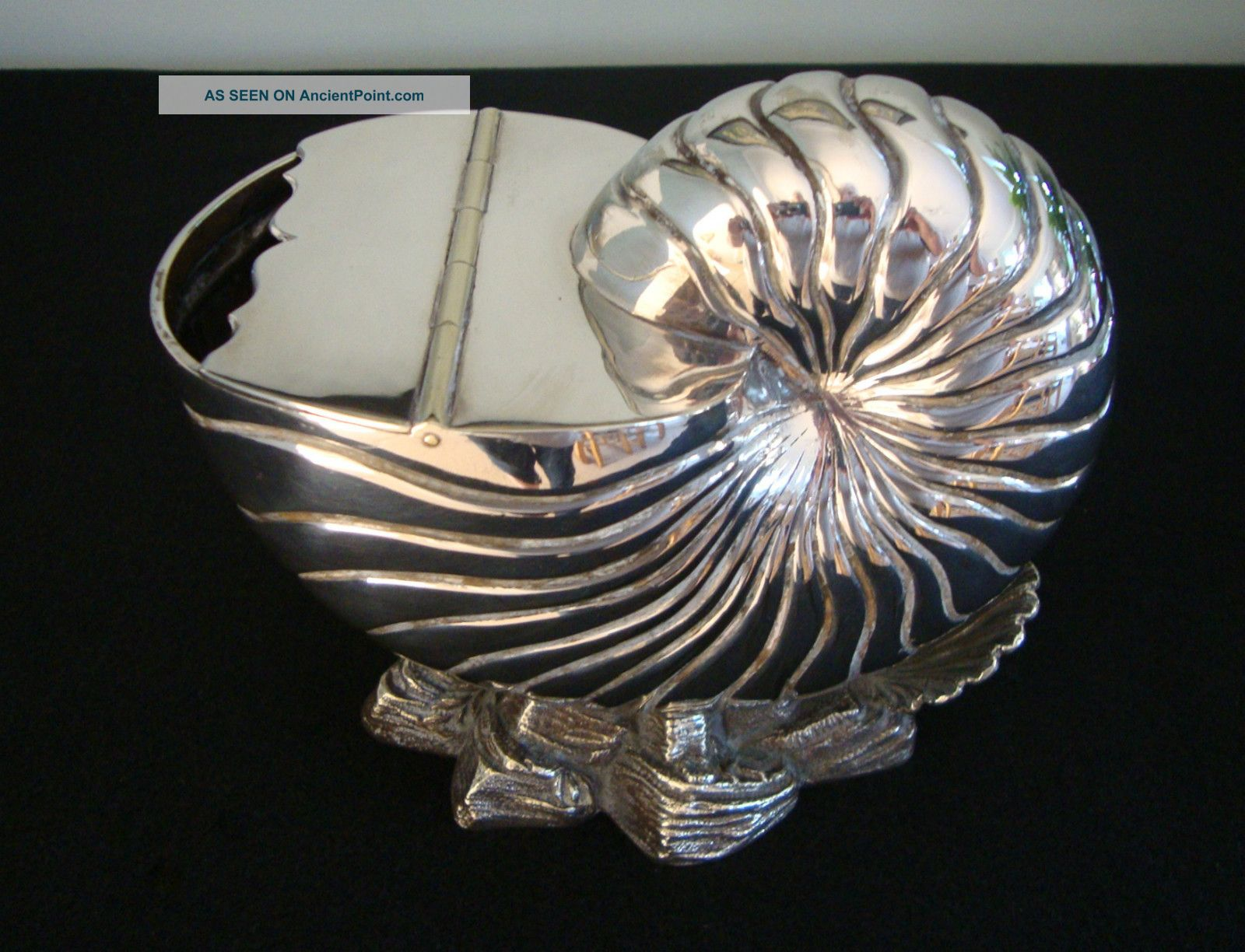 Antique Nautilus Spoon Warmer,  Silver Plate Victorian Other photo