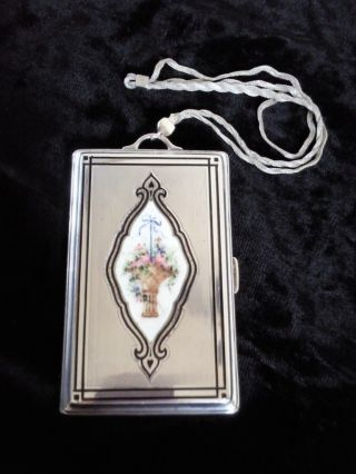 Edwardian Sterling Silver & Enamel Card Case - R Blackinton photo