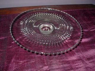 1 Eapg Clear Pressed Glass Candlestick Cake Stand – Mmm,  Pastries photo