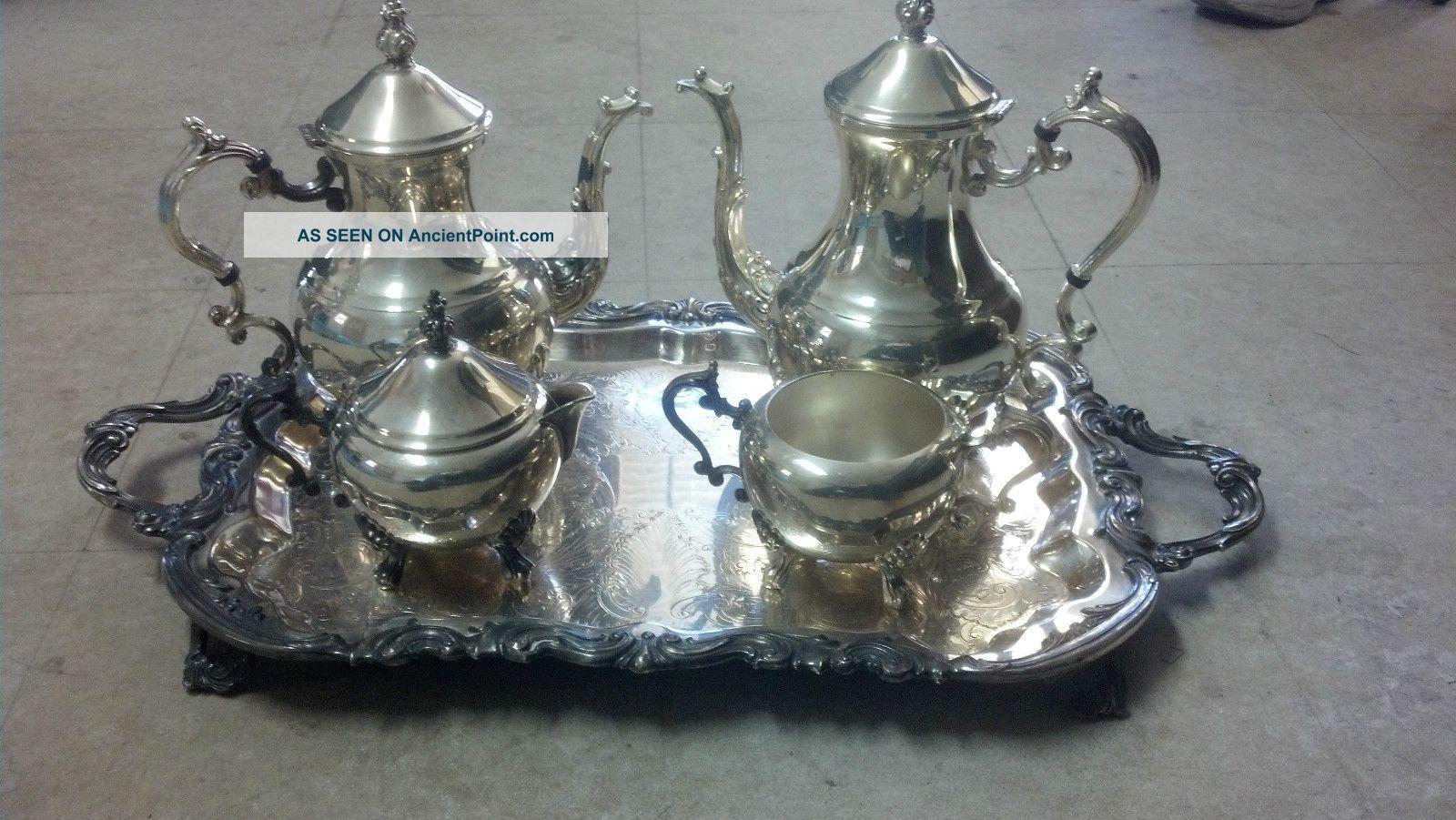 Wm.  Rogers Co Silverplate Tea Set 2377 Oneida/Wm. A. Rogers photo
