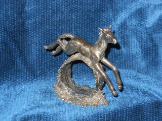 Foal,  Horse Silverplate Figural Napkin Ring photo