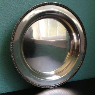 Antique Silver Plate Serving Dish - Roman Key Edge - Tiffany Stlye photo