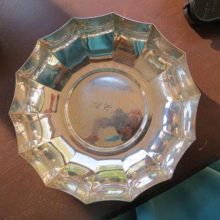 Vintage Tiffany & Co Sterling Silver Serving Bowl 9.  6 T Oz 7 - 1/4