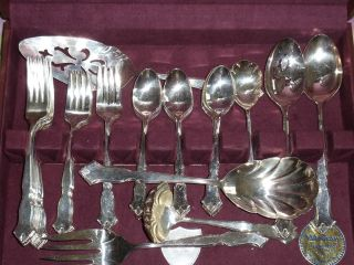 International Deepsilver Silverplated Silverware Set In Tarnish Proof Wood Case photo