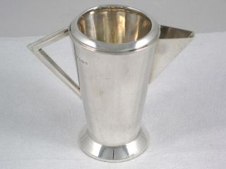 Art Deco 141g Sterling Silver Sauce,  Milk Or Cream Jug Dated 1932 photo