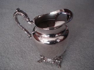 Oneida Silversmiths Silverplate 2 Qt.  Beverage Pitcher Footed 4 Leg Euc photo